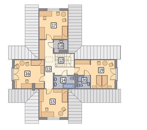 Rzut poddasza POW. 103,7 m²