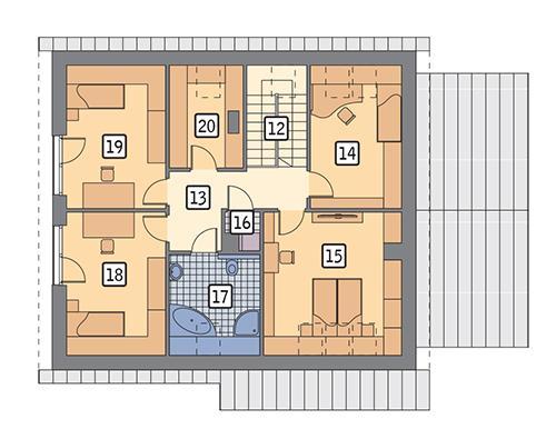 Rzut poddasza POW. 100,0 m²