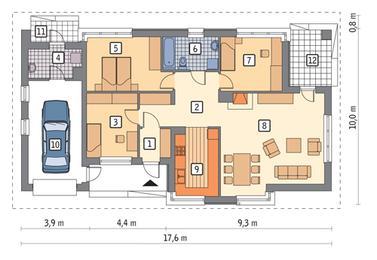 RZUT PARTERU POW. 94,0 m²