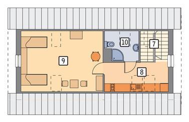 RZUT PODDASZA POW. 34,9 m²